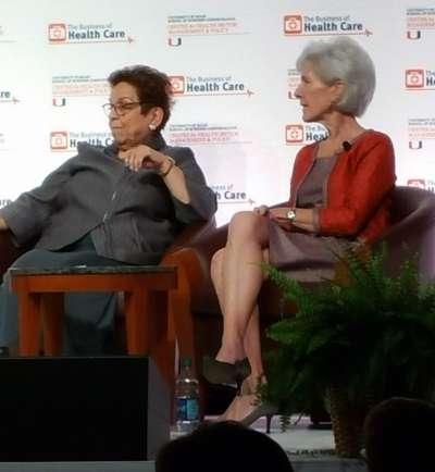 Donna Shelala and Kathleen Sebelius